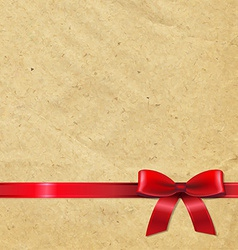 Old Paper With Red Ribbon vector image vector image