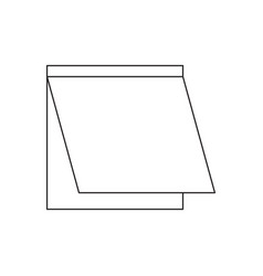 sticky note icon image vector image