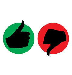 thumb up thumb down icon silhouette vector image vector image