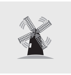 windmill icon vector image vector image