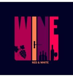 wine label design background vector image