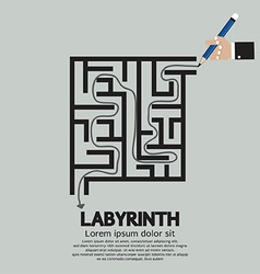 Maze Labyrinth Graphic vector image