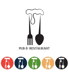 restaurant and pub negative space concept and web vector image vector image