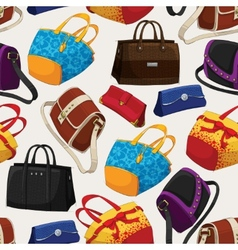 Seamless womans fashion bags pattern vector image vector image