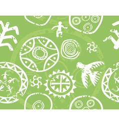 tribal seamless texture vector image vector image