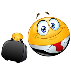 business emoticon vector image vector image