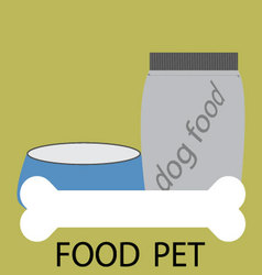 Feed pet icon design vector image