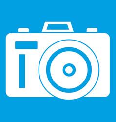 photocamera icon white vector image vector image