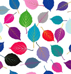Seamless with colored leaves vector image vector image