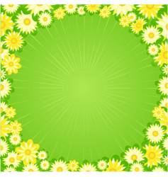spring flower border vector image vector image