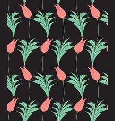 turkish tulip seamless pattern vector image