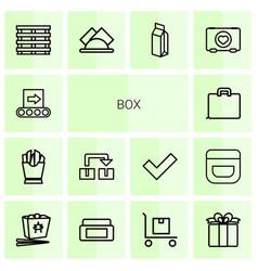 14 box icons vector image