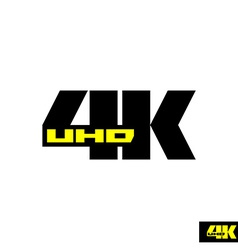 4k sign label TV emblem vector image