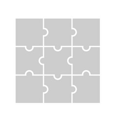 9 puzzle piece jigsaw concept background vector image