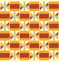 African kente cloth ethnic fabric seamless vector