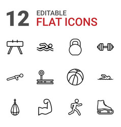Athletic icons vector