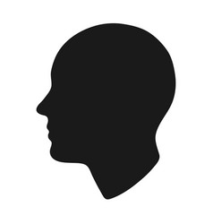 Bald person head silhouette vector