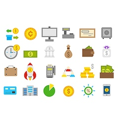 Banking isolated icons set vector image