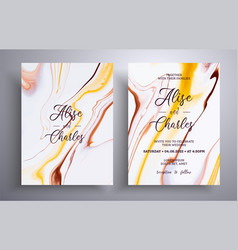 beautiful collection wedding invitations vector image