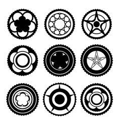 Bike Chainring Set vector