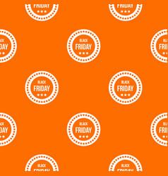 Black friday sticker pattern seamless vector