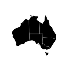 Black map of Australia vector image