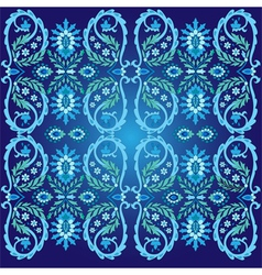 blue ottoman serial patterns two vector image