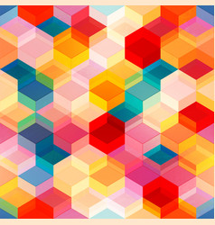 bright color mosaic seamless pattern vector image