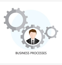 Business Processes Icon Flat design Concept vector image