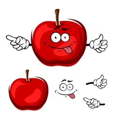 Cartoon isolated red apple fruit vector image