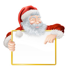 christmas santa claus sign vector image