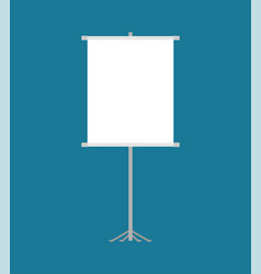 clean roll-up isolated for presentation template vector image