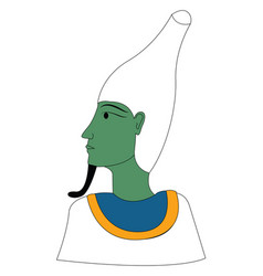 clipart osiris turning to left vector image