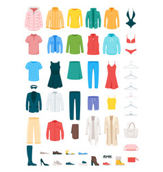 Clothes and accessories set vector