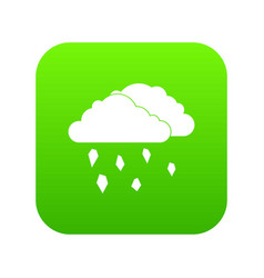 Clouds and hail icon digital green vector