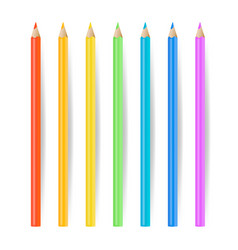 Colored pencils set realistic school tools vector