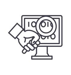 computer diagnostics concept thin line icon vector image