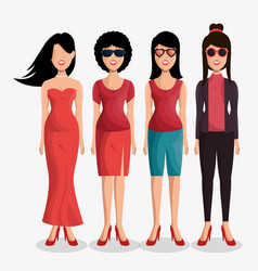 cute women avatar icon vector image