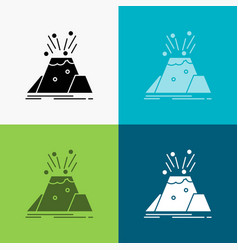 disaster eruption volcano alert safety icon over vector image