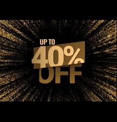 discount with price is 40 vector image