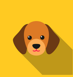 Dog muzzle icon in flat style for web vector