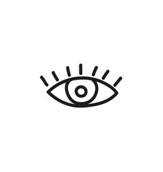 doodle eye icon vector image