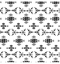 drawing geometrical ethnic pattern vector image