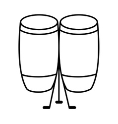 drumps music instrument isolated vector image