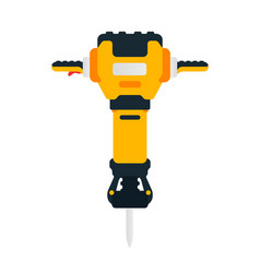 Electric jackhammer power tool for household vector