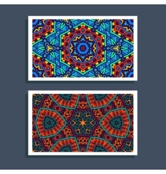 Festive Tribal colorful ornamental ethnic banner vector image