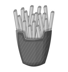 french fries icon monochrome vector image