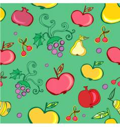 fruits wallpaper pattern vector image vector image