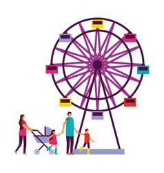 Fun fair carnaval vector