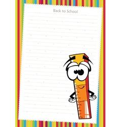 Funny cartoon ruler vector image